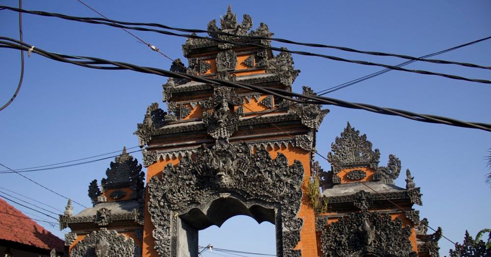 Entrance to Tanah Lot