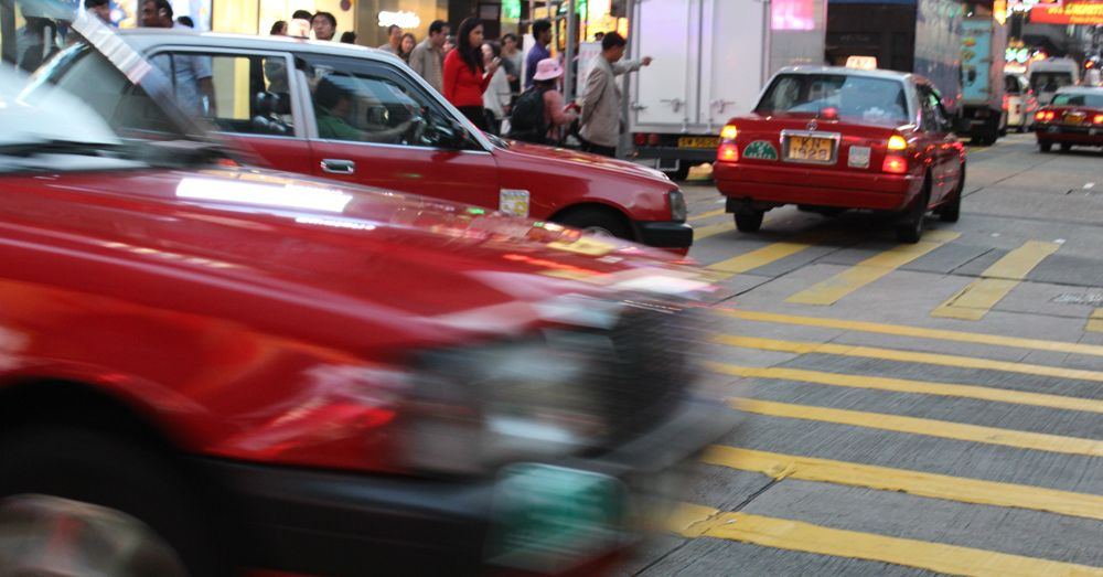 Taxis in Hong Kong serve at their convenience.