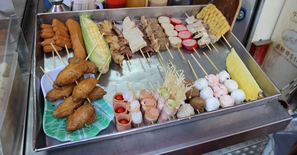 Skewer samples at QQ Skewer Shop.