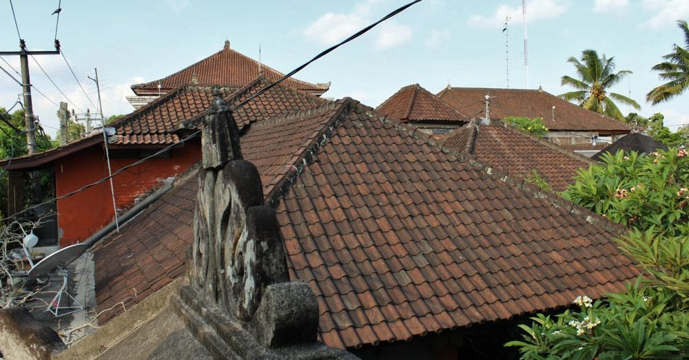 Bali rooftops.