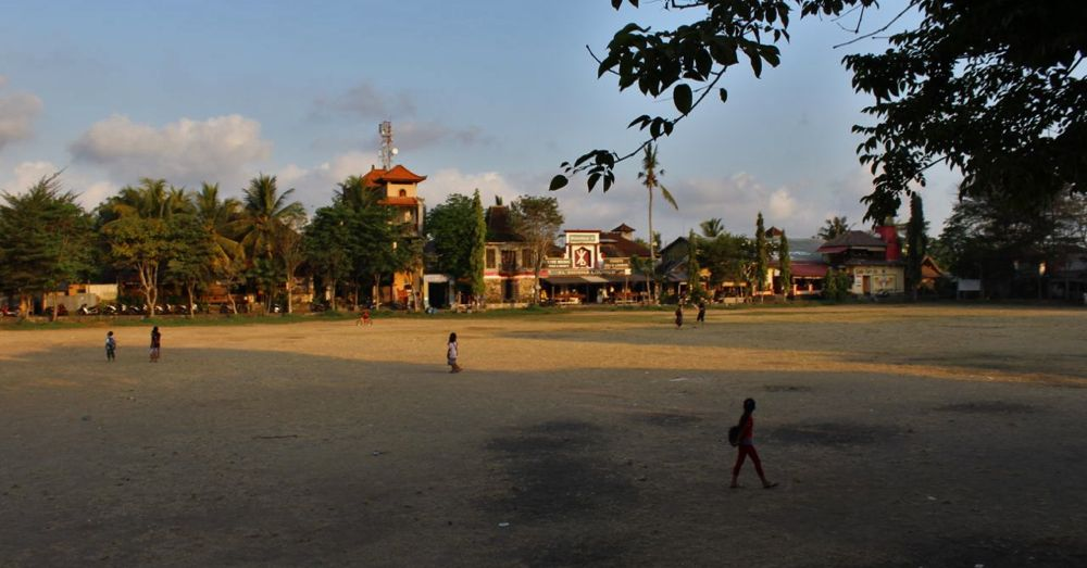 Ubud football field.