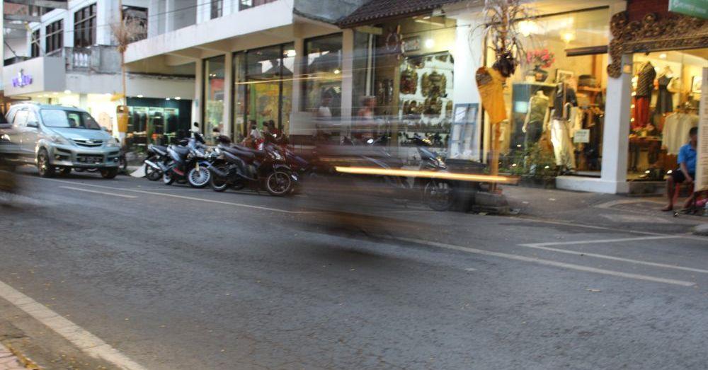 Speedy motorbike.