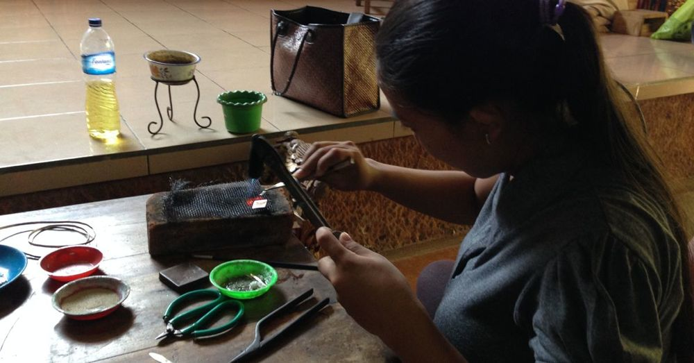 Jewelry-making class.