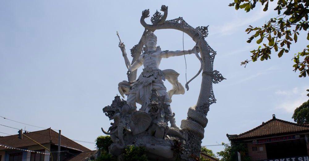 Arjuna standing guard