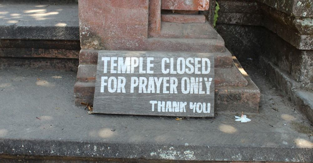 Temple closed.