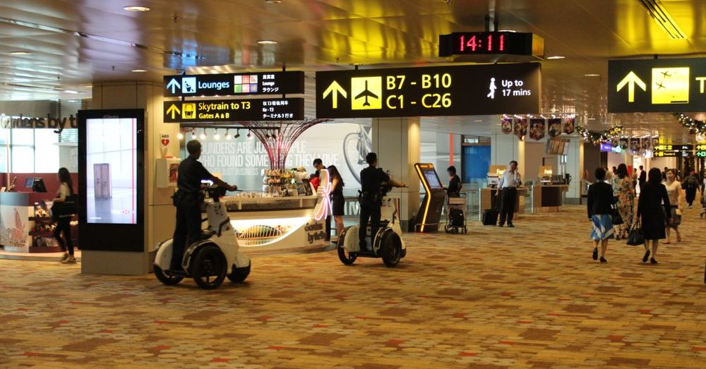 Segways in Changi Airport