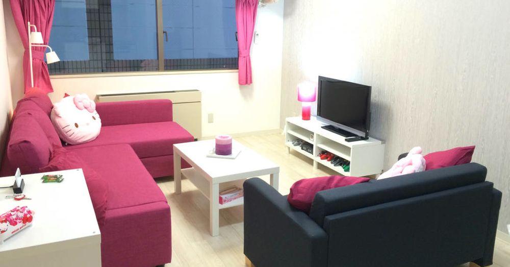 Living room, Hello Kitty Apartment, Osaka.