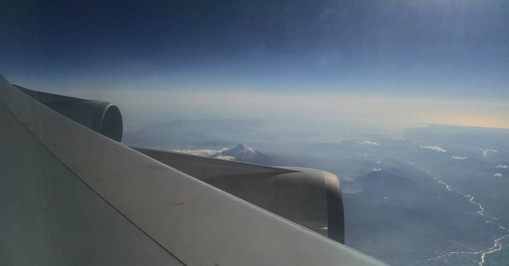 Mt. Fuji from a plane.