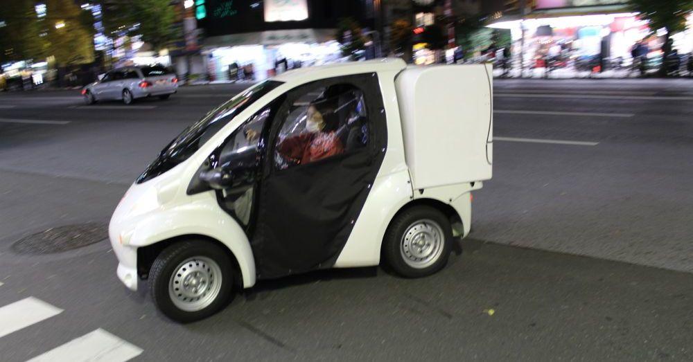 Tiny car.