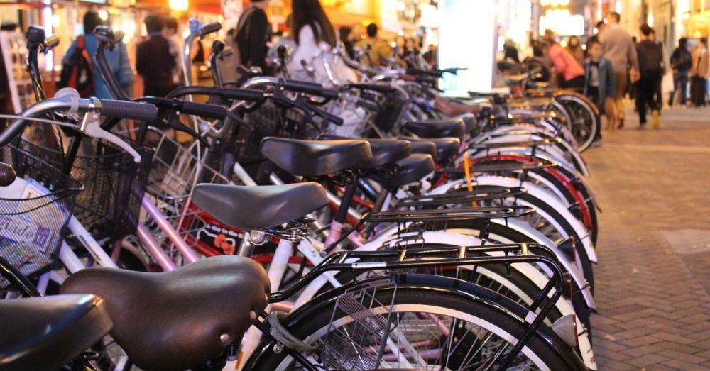 Bikes in Dotonbori
