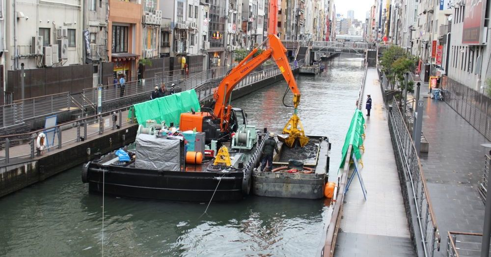 Dredging the Dotonbori River
