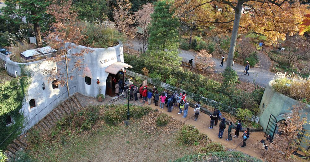 Line to enter Ghibli Museum