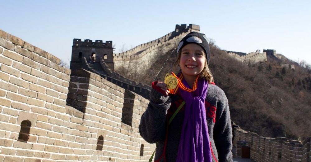 Triumphant Wall Climber