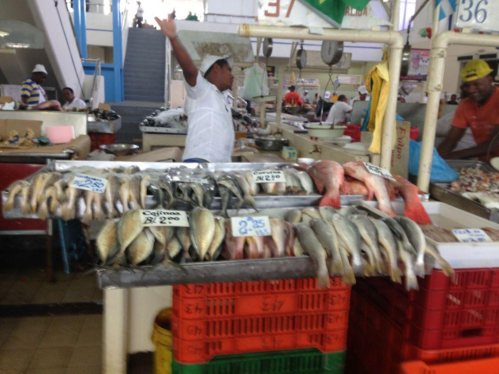 Fish market hawker