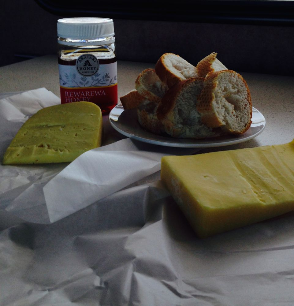 Local honey and cheese