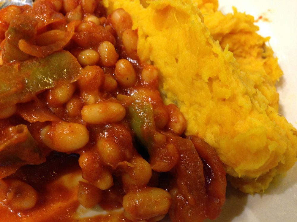 Beans and pumpkin mash