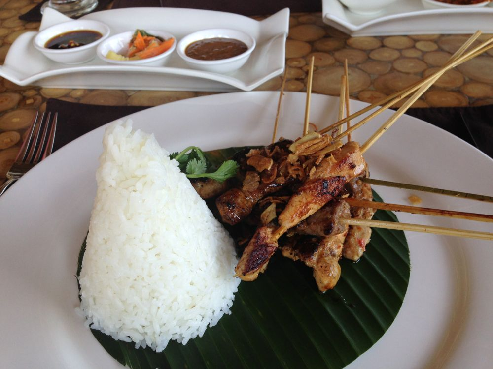 Rice and mixed grill