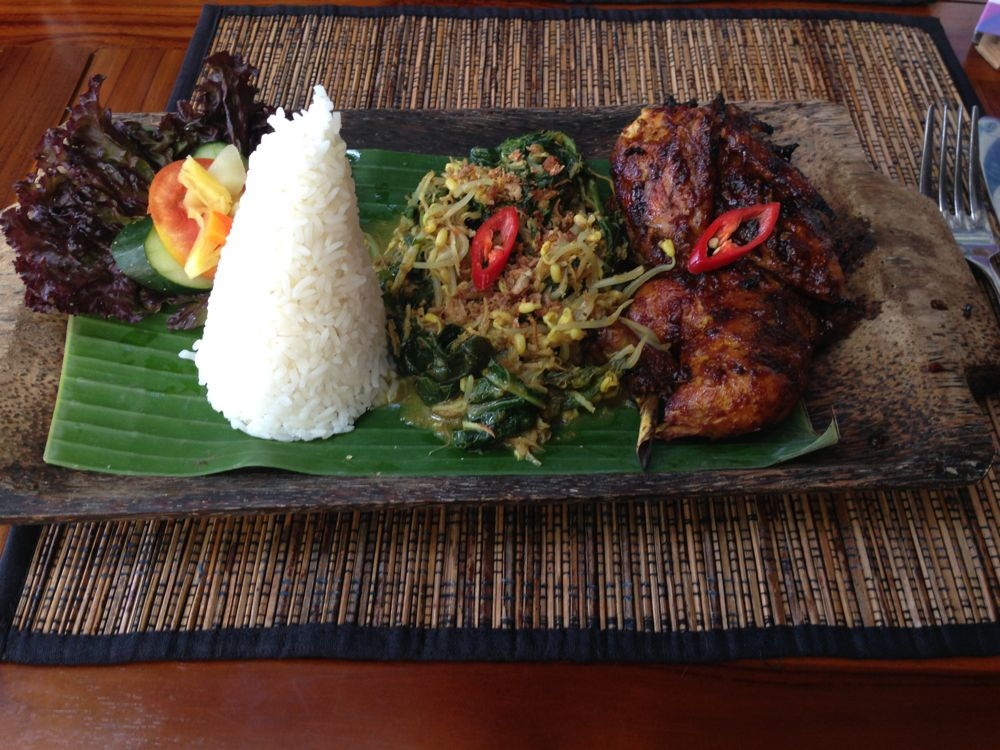 Typical lunch in Bali