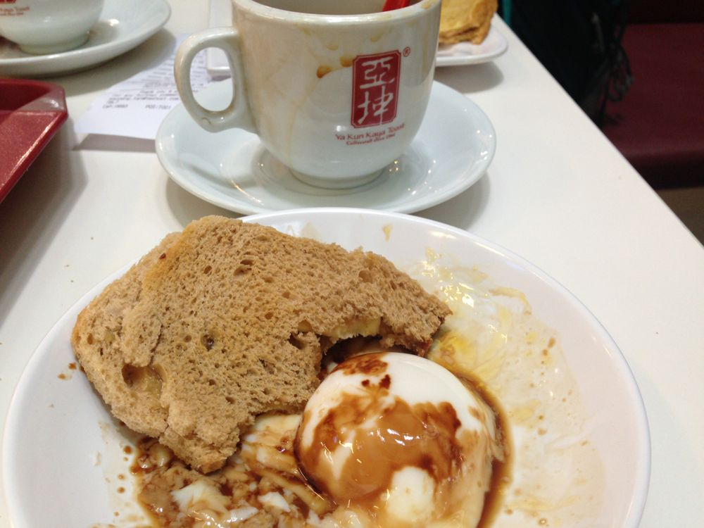 Kaya toast and yuanyang