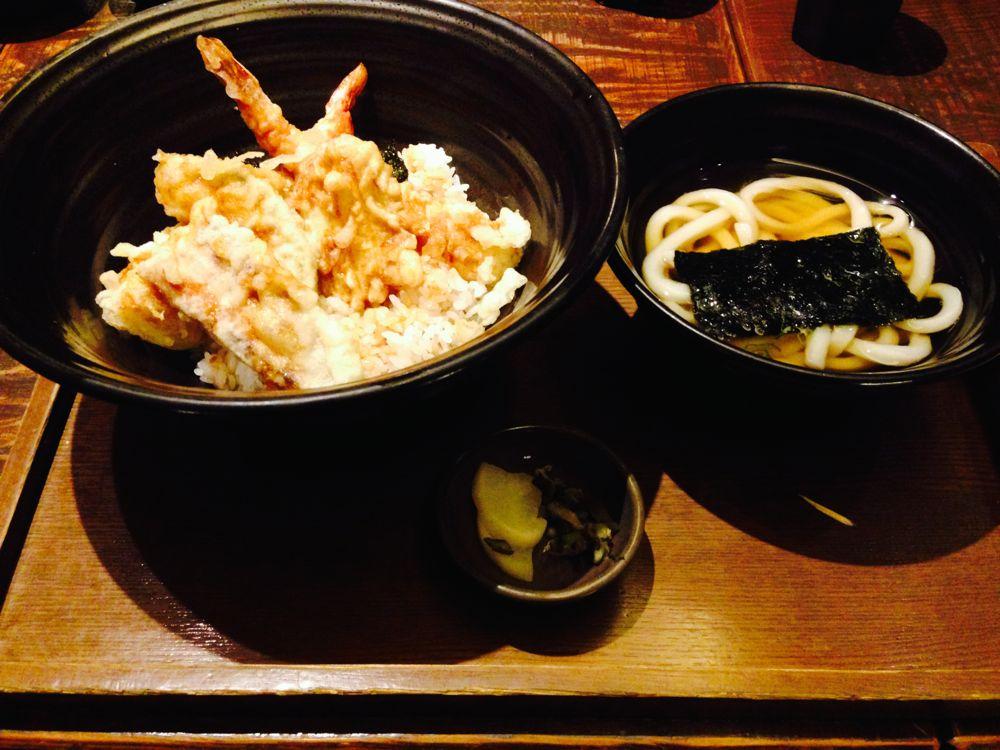 Tempura and udon