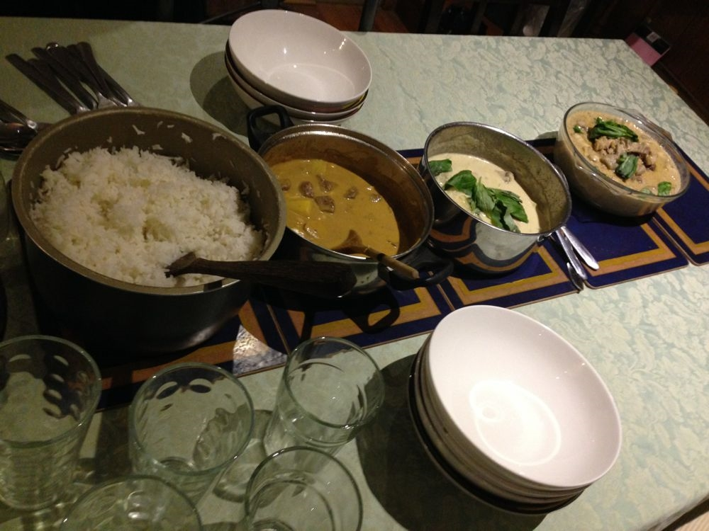 Homemade curries by Gillian