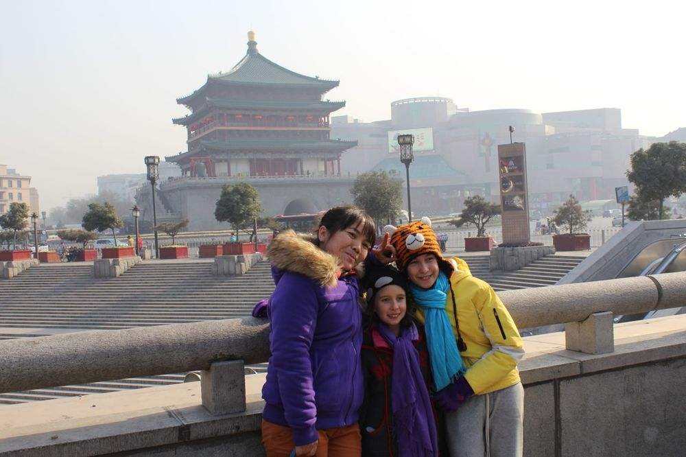 This nice lady from Xi'an wanted to be in a picture with white girls.
