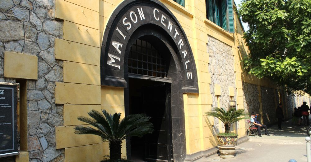 The infamous Maison Centrale, now the entrance to the Hoa Lo Prison Museum.