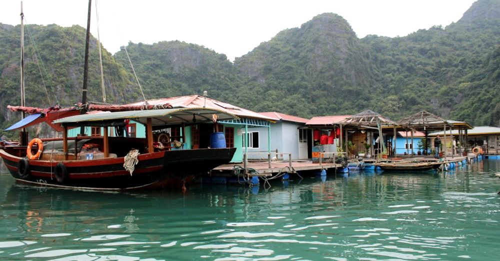 Floating fishing village.