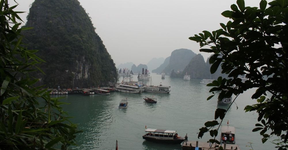 Christmas Day in Ha Long Bay.