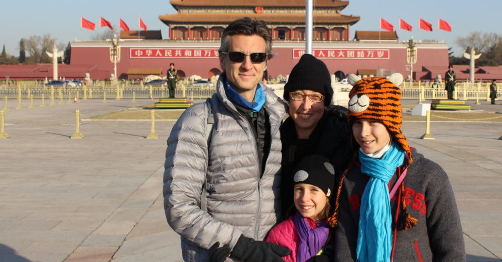 Family in front of Tiananmen Gate