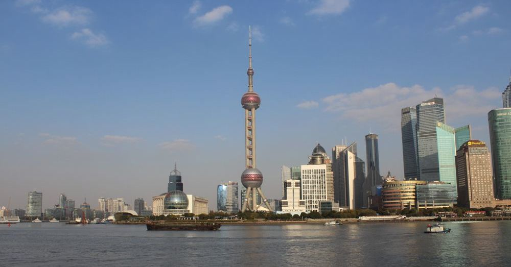 Oriental Pearl Across the Huangpu River