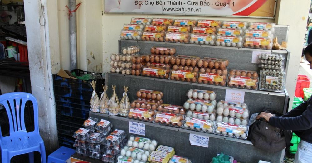 Egg stand, Ben Thanh Market, Ho Chi Minh City.