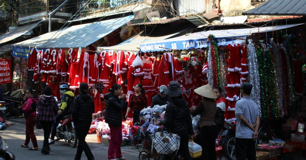 Get your Santa outft here in Hanoi