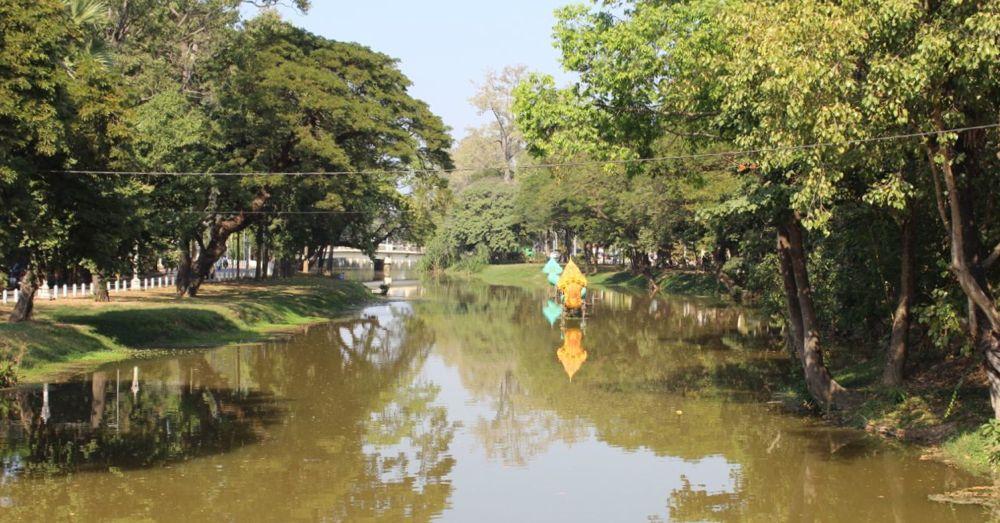 Siem Reap River runs through the heart of Siem Reap.