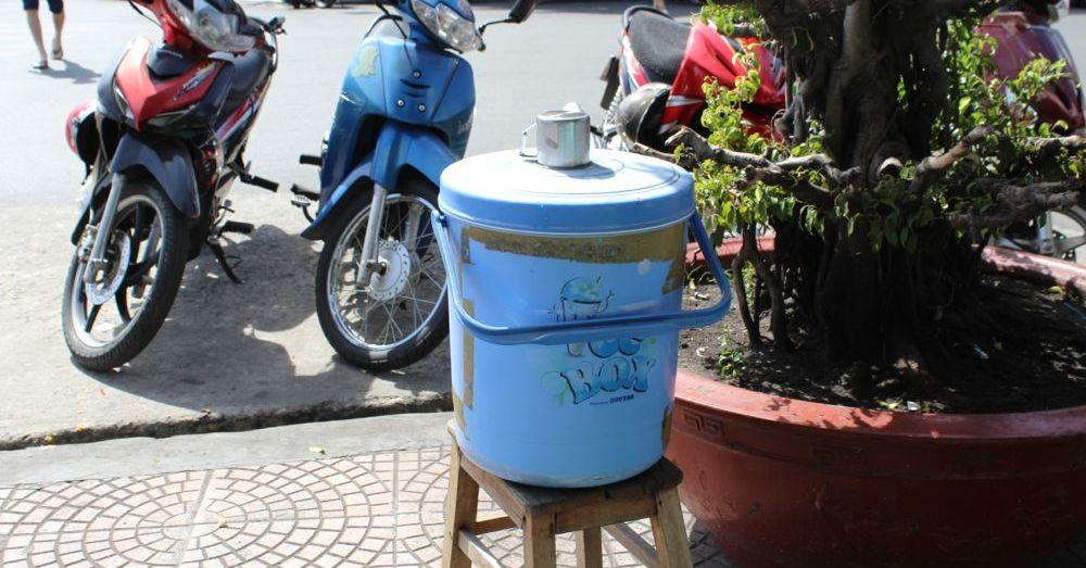 Water bucket.