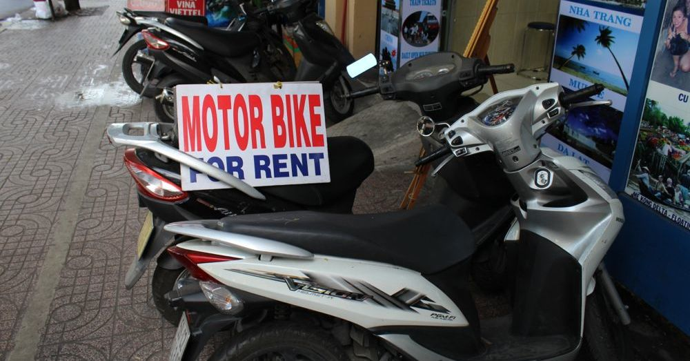 Motorbike for rent.