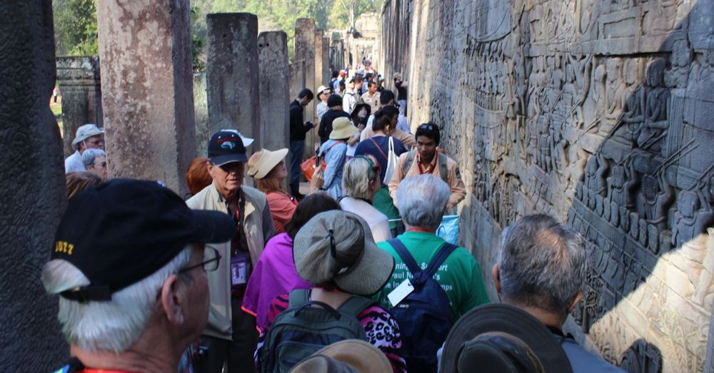 Bayon can be crowded.