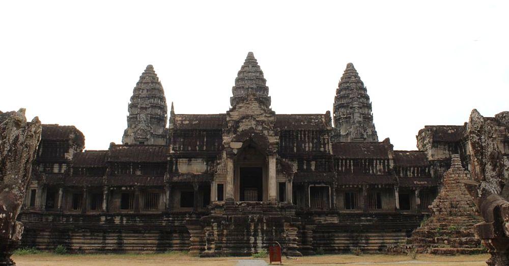 Angkor Wat, east side.