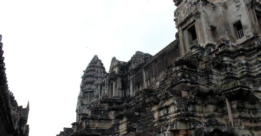 Inside the walls of Angkor Wat.