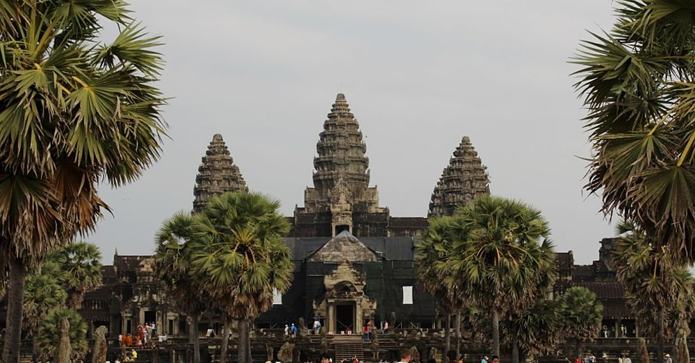 Angkor Wat, just before sunset.