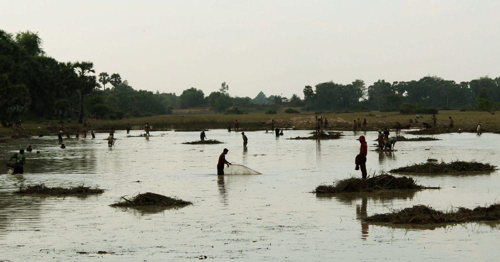 Cambodian fishermen.