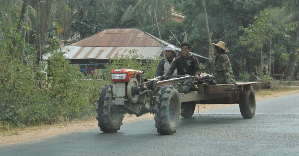 Cambodian tractor.