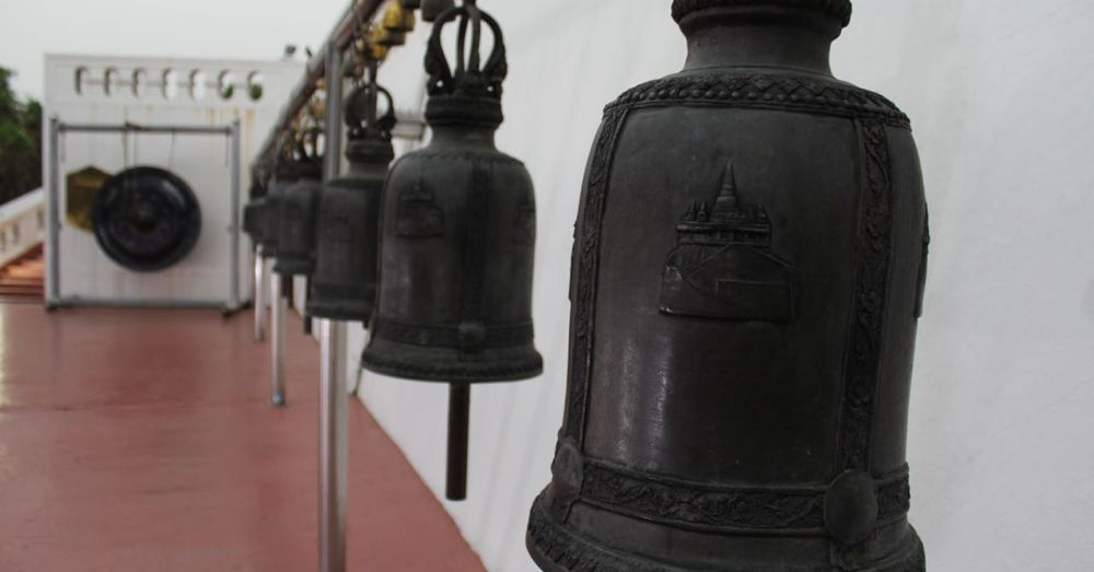 The bells of Wat Saket.