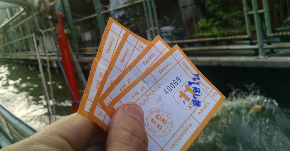 Tickets to ride the water taxi.
