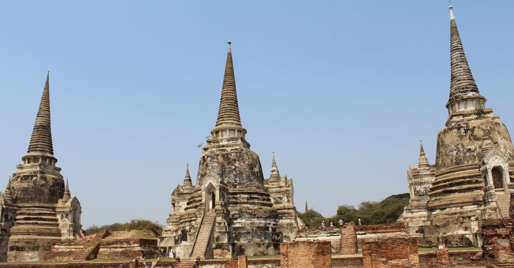 Three stupas at Wat Phra Sri Sanphet.