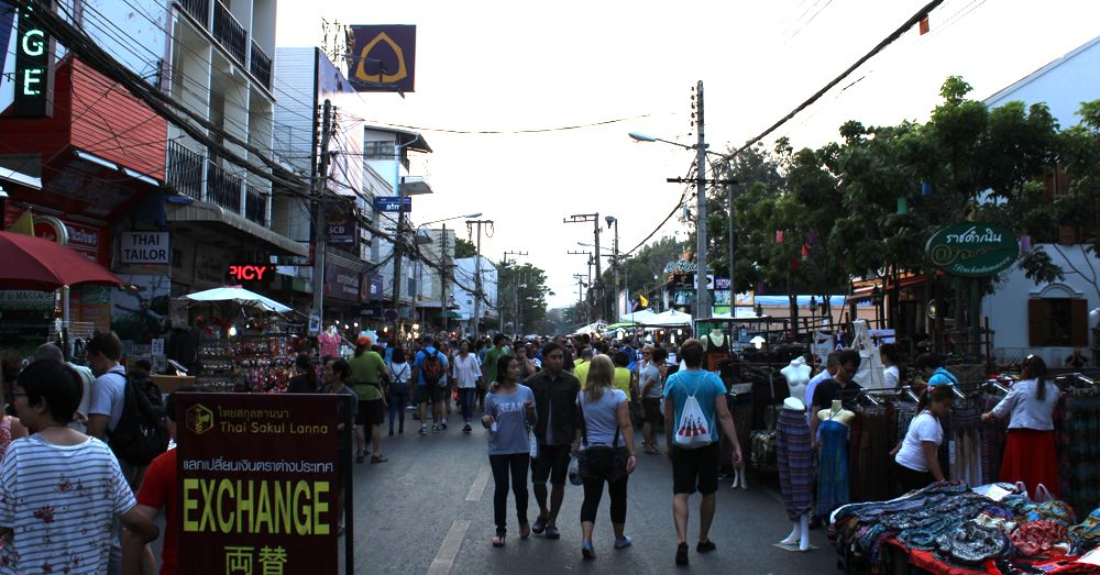 Chiang Mai Sunday walking market.