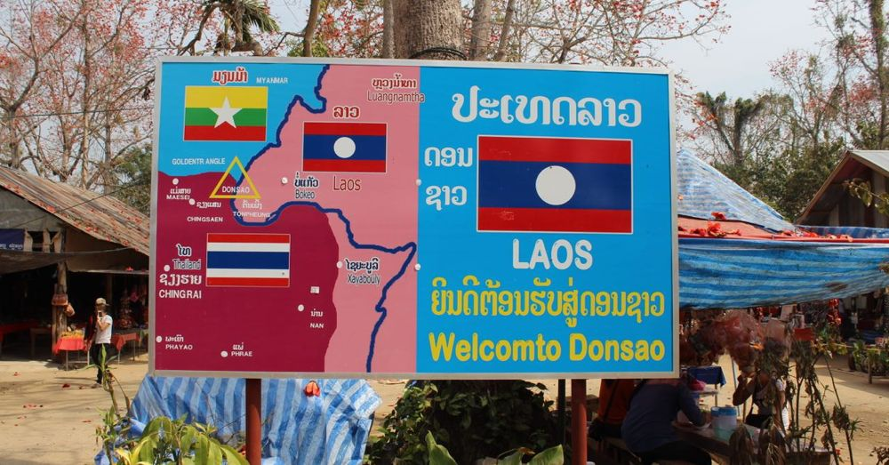 Laos, via the Golden Triangle.