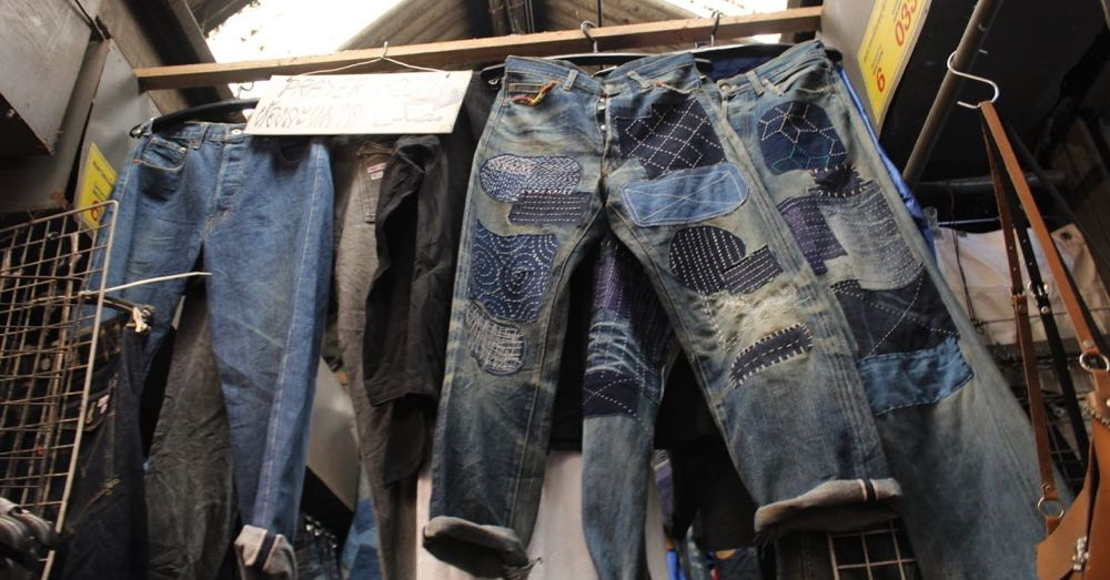 Jeans at Chatuchak Market.