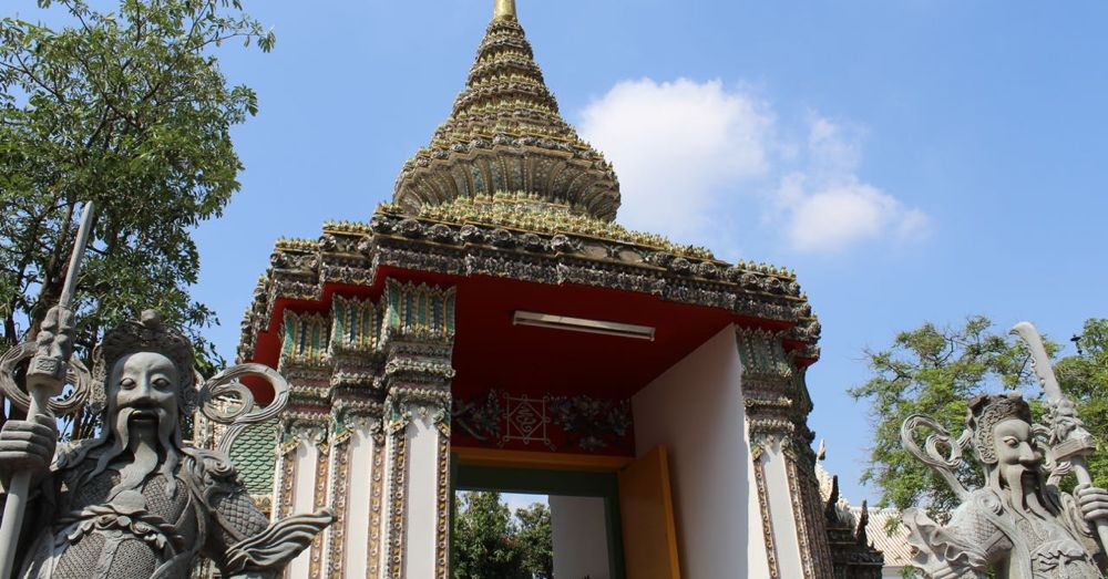 An entrance to Wat Pho.