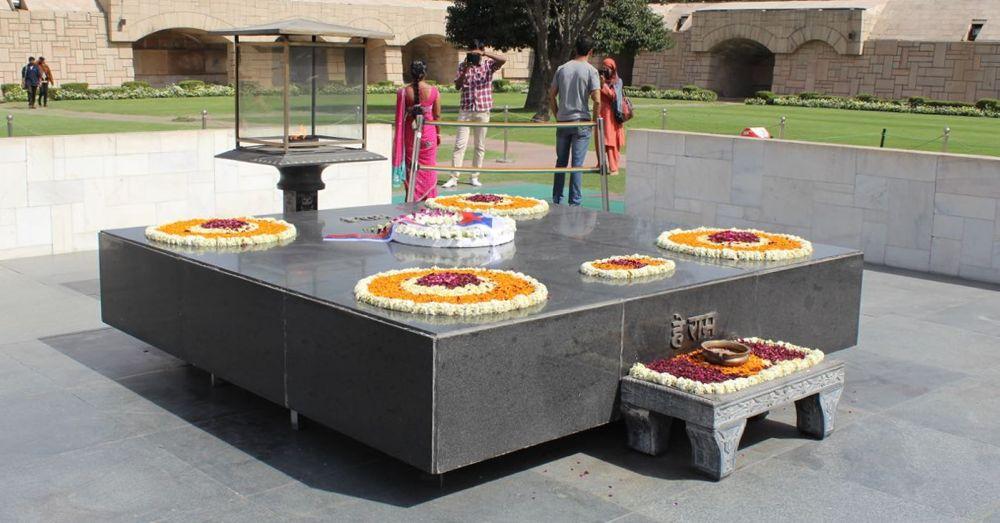 Raj Ghat, Gandhi's memorial.